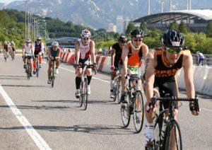 Radfahrer beim Ironman